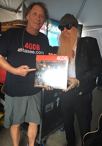 Dan and a fan of 4GDB who knows more than a little about guitar!
